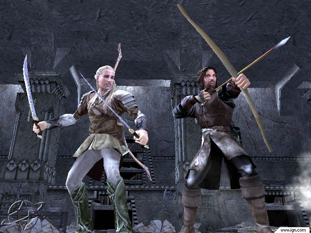 Lotr The Two Towers Video Game Screenshot Video Games The