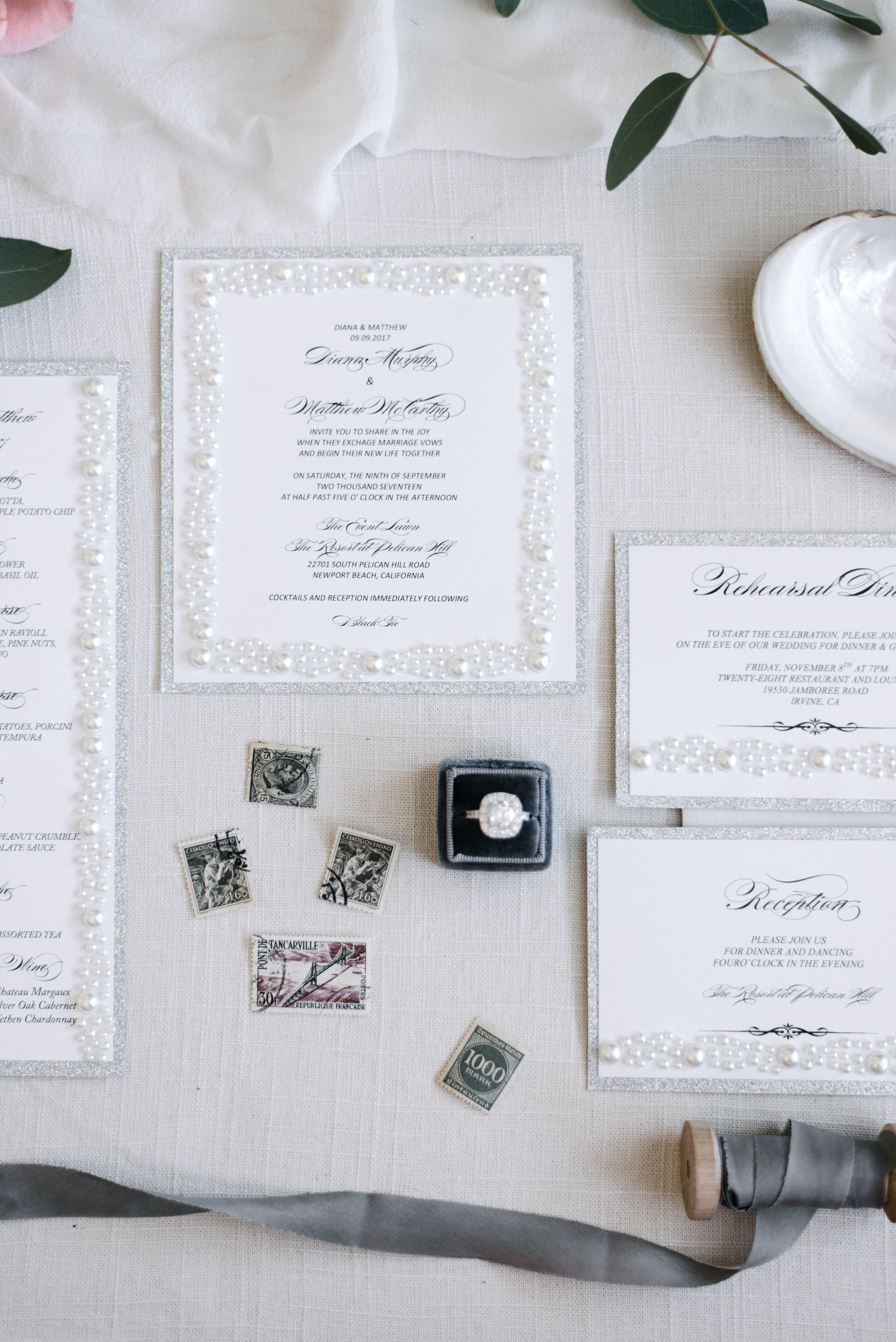 Pearl wedding invitation #pearlweddin…   Luxury Wedding Invitations ...