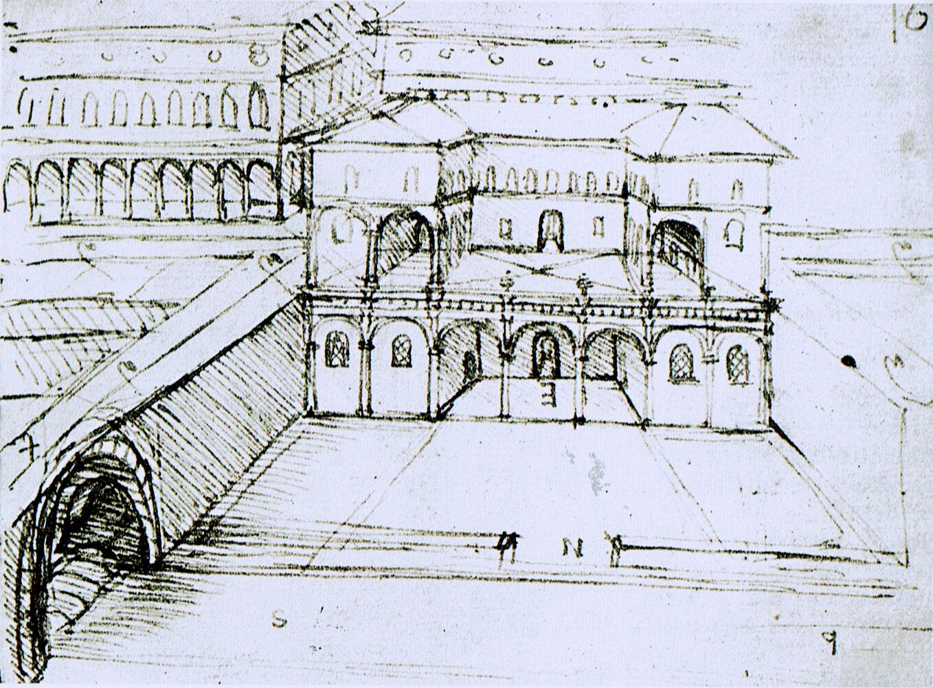 Design for an ideal city ca 1485 by leonardo da vinci for Da architecture