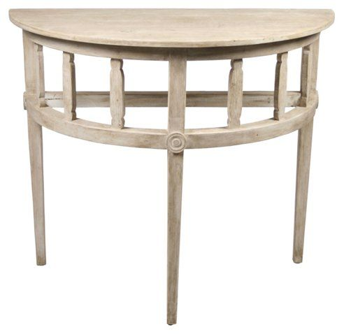Reclaimed Demilune Console Unfinished Side Tables Living Room