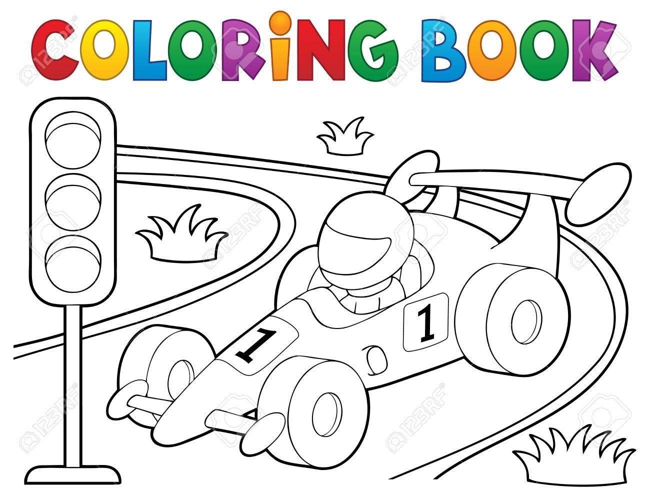 Coloring Book Racing Car Theme 1 Eps10 Vector Illustration Ad Racing Car Coloring Book Vector Coloring Books Vector Illustration Clip Art