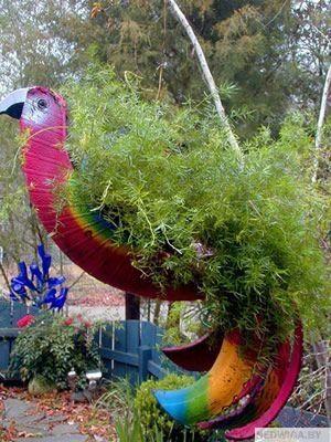 handmade13_result Идеи для оформления участка Pinterest Floreros - jardines con llantas