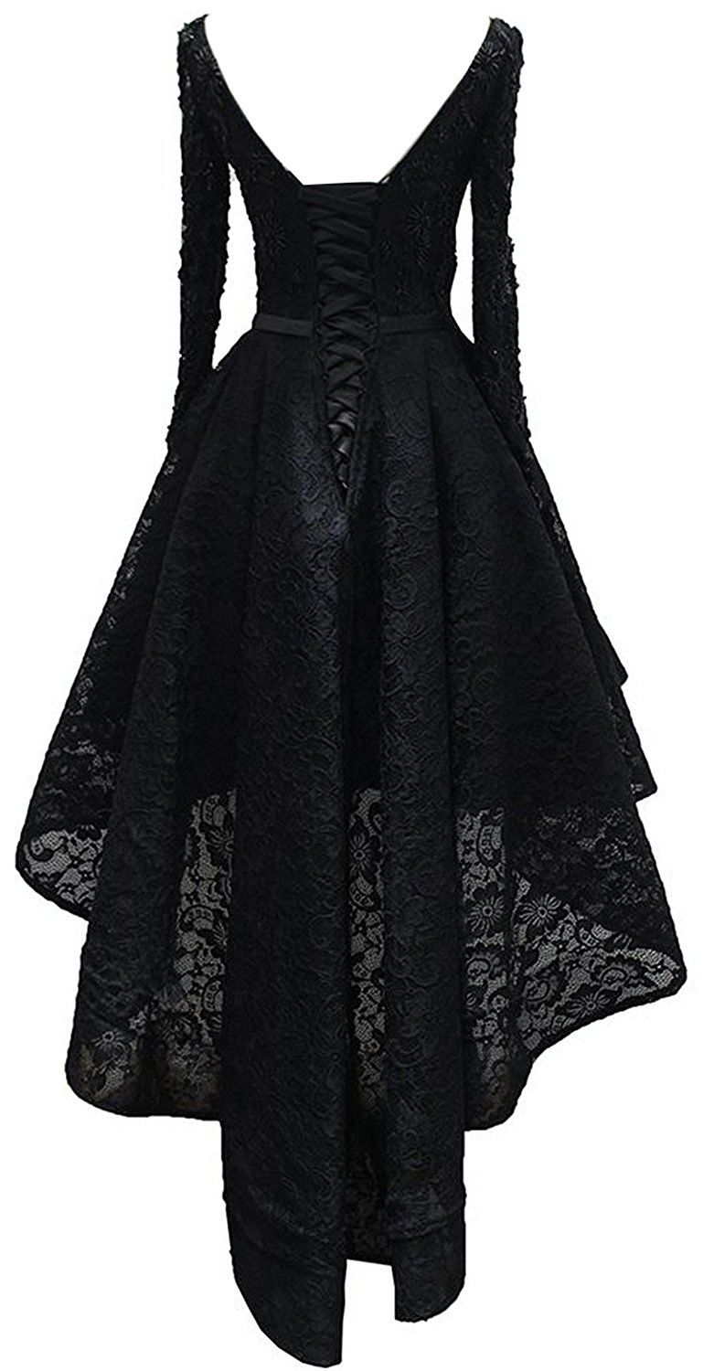 Amazoncom Rongstore Womens High Low Lace Prom Party