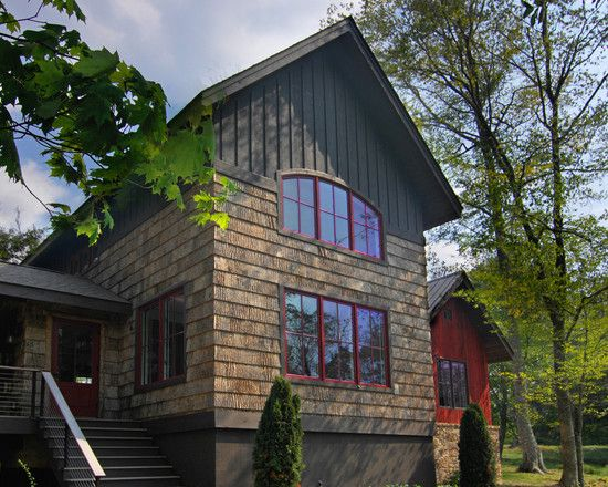Bark House Shingle Siding And Reclaimed Barnwood Siding   Rustic   Exterior    Charlotte   By Christopher Kellie Design Inc.
