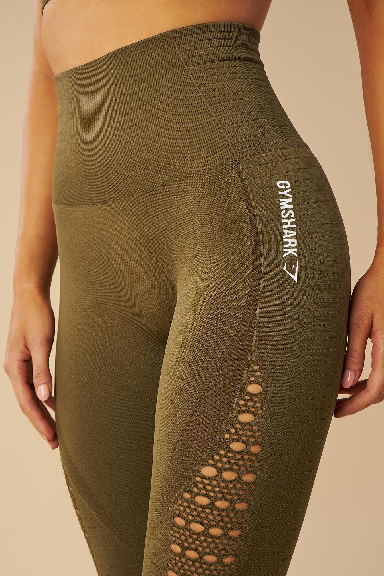 97583f70f1606 Complete with eyelet detailing to the ankle and thigh, the Energy Seamless  Leggings are a