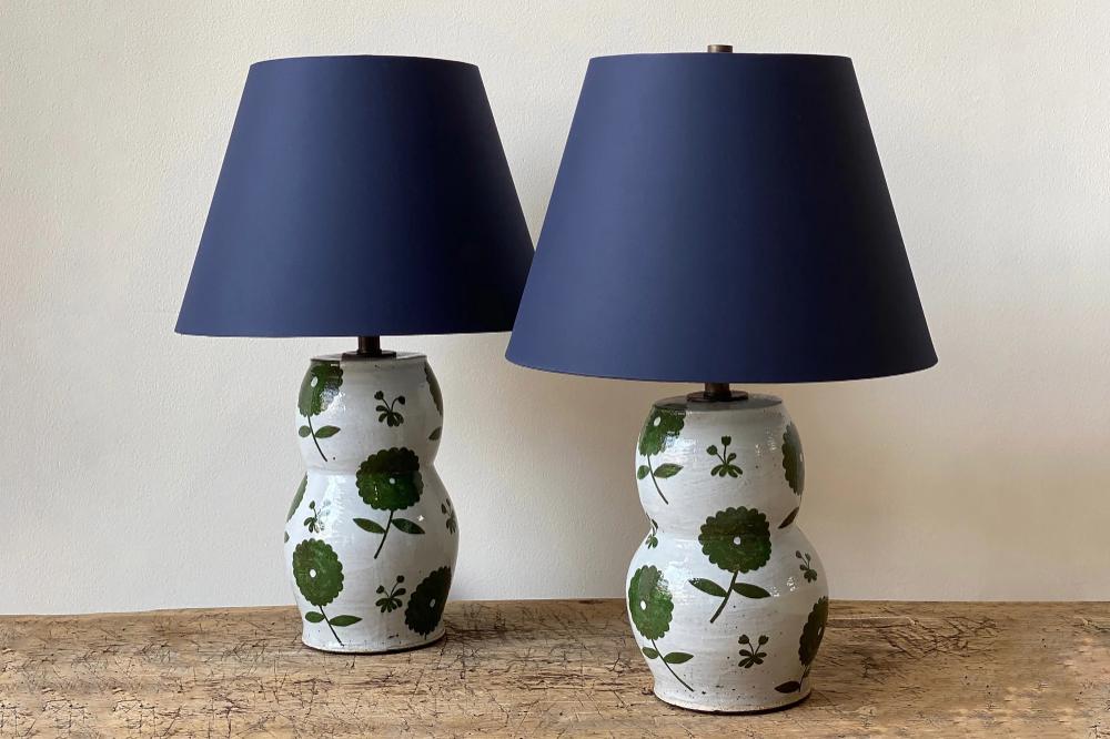 Rebekah Miles Ceramic Table Lamps In 2020 Ceramic Table Lamps Ceramic Table Ceramic Painting
