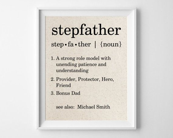 Stepfather Definition Personalized Cotton Print