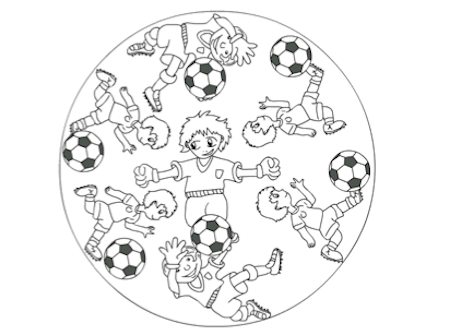 voetbal mandala wm school sports sports art football. Black Bedroom Furniture Sets. Home Design Ideas