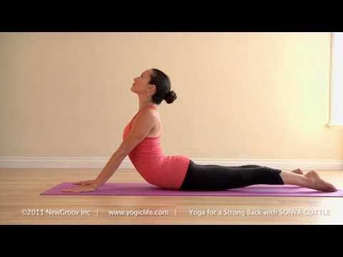 yoga for a strong back with sonya cottle cobra pose