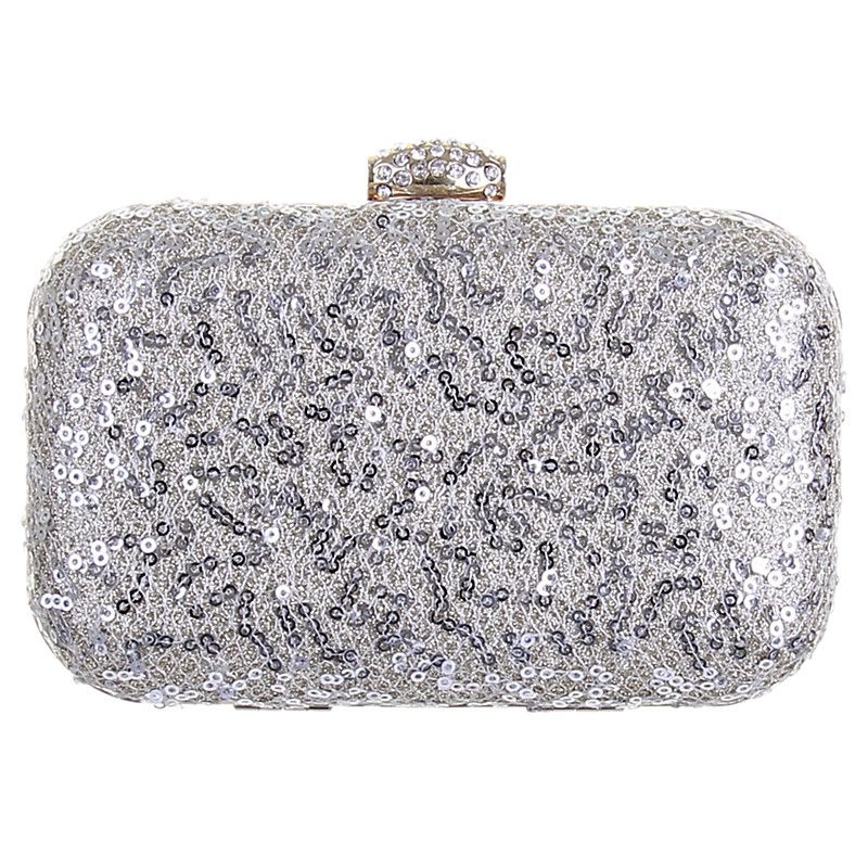 Buy Rainbow Club Rene Sequin Clutch Bag Silver