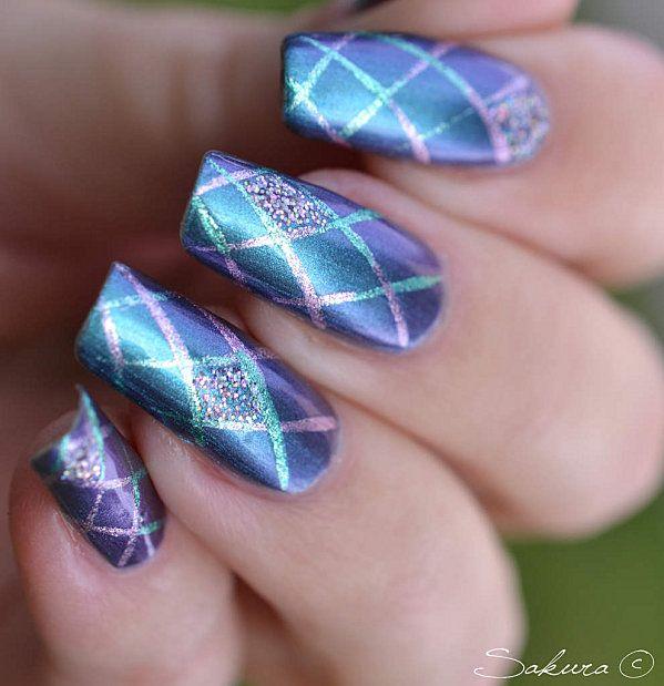 Purple and blue nails   nails   Pinterest   Blue nails, Pretty nails ...