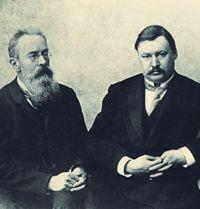 "Rimsky Korsakov (left) and Glazunov, who together completed Borodin's ""Prince Igor."""