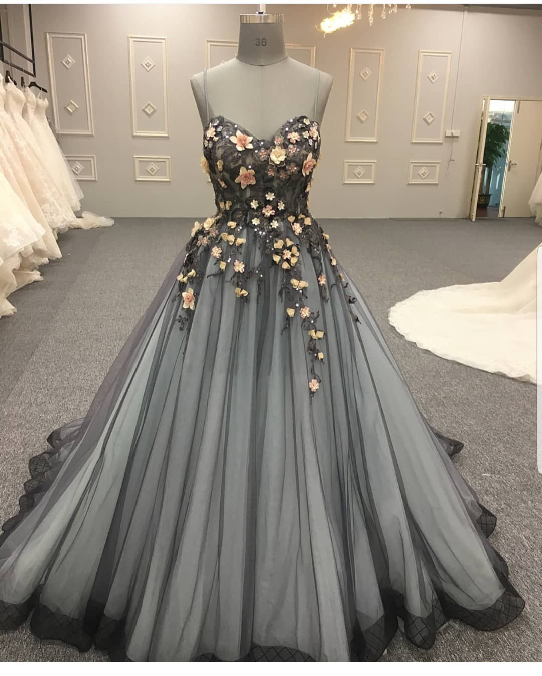 Custom evening dresses couture formal ball gowns colored wedding