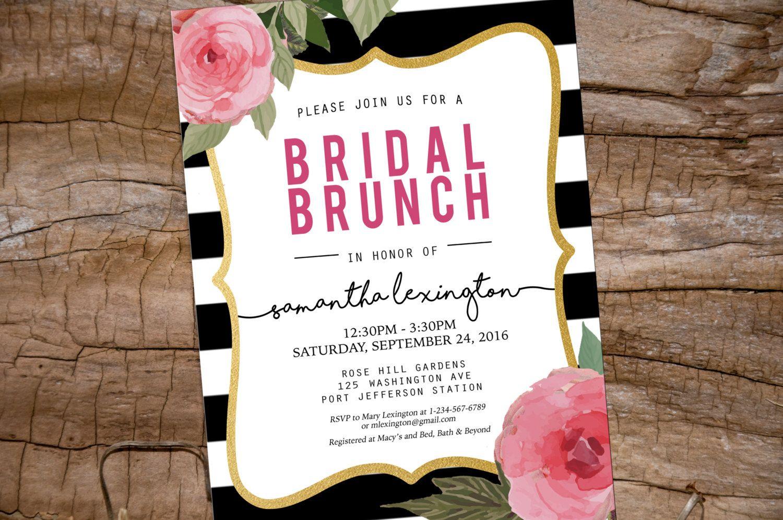 Kate Spade Bridal Brunch Shower Invitation Printable