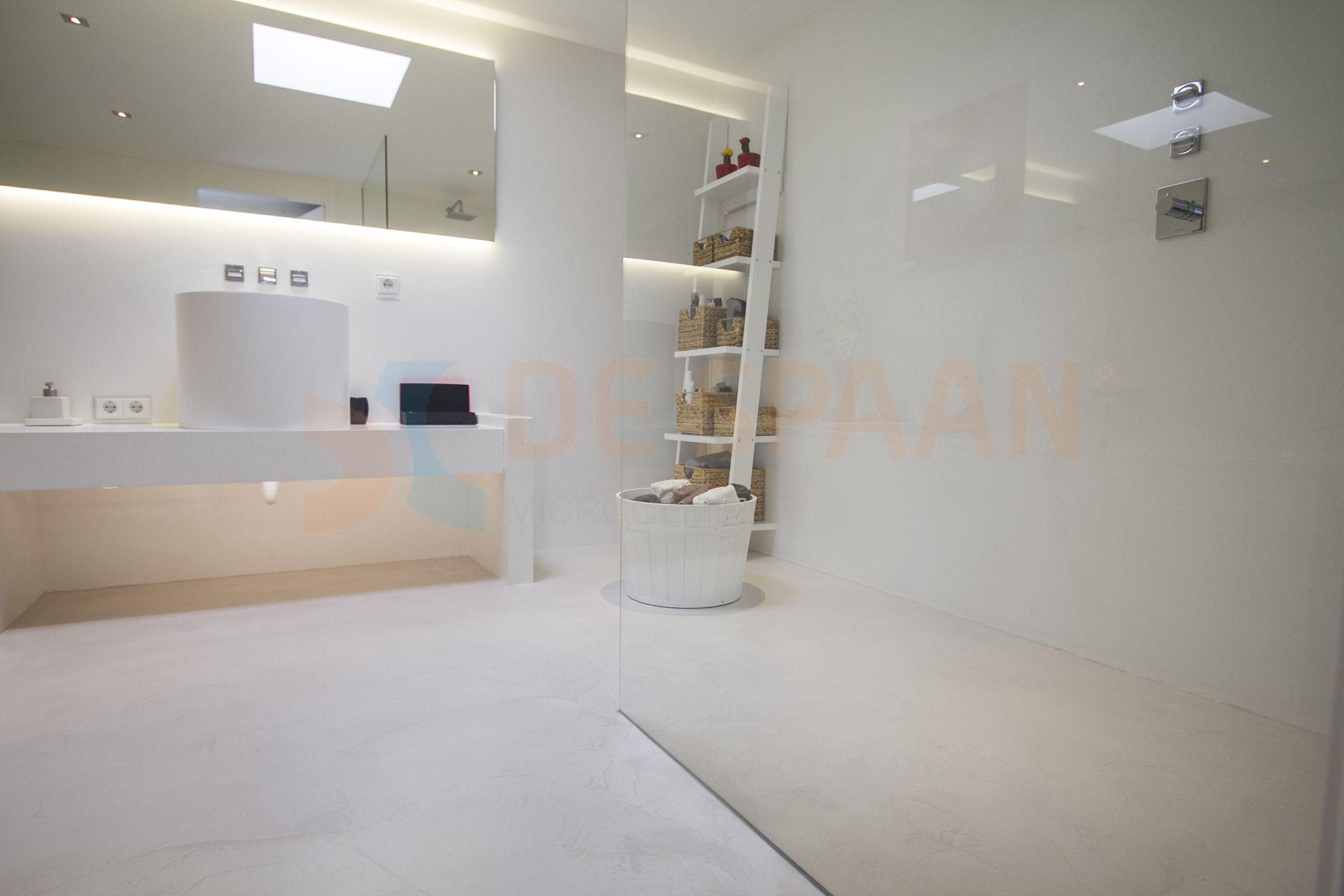 Gietvloer Wanden Badkamer : Gietvloer badkamer wanden microcement vloer badkamer