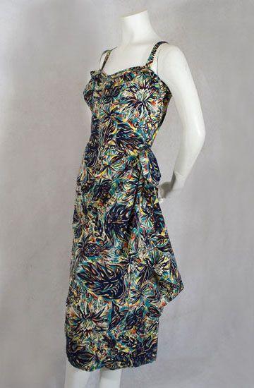 Hawaiian sarong dress & bolero, 1940s