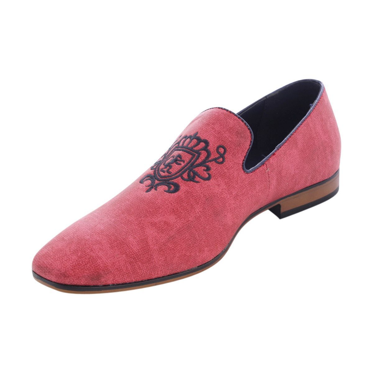 ea3a67110d2 Synthetic upper in red - Slip on design - Faux leather trim top line ...
