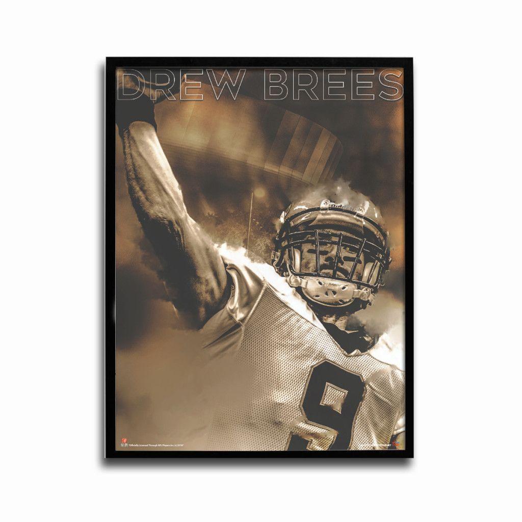 New Orleans Saints Drew Brees Big Easy 24x18 Football Poster