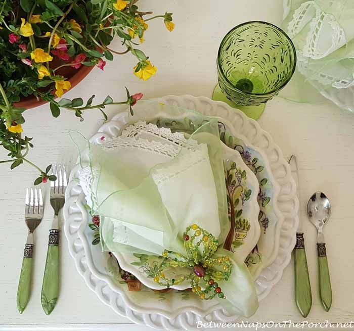 Spring Table Setting with Ma Maison and a DIY Tiered Planter ...
