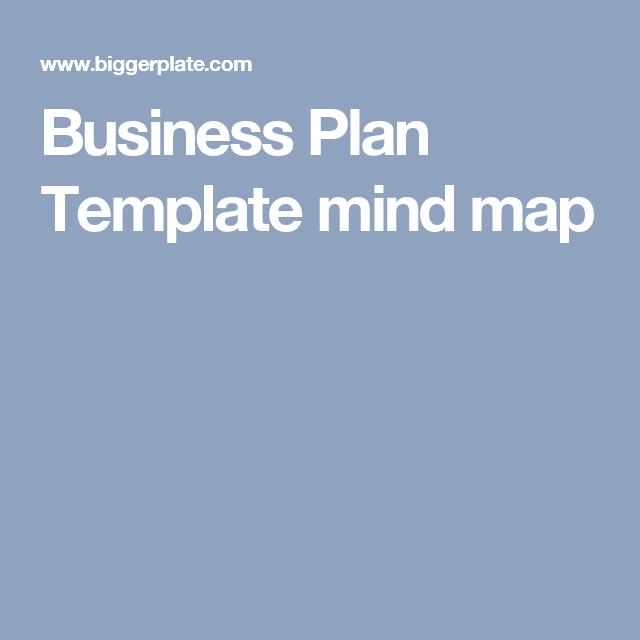 Business Plan Template Mind Map Bessou Pinterest Business