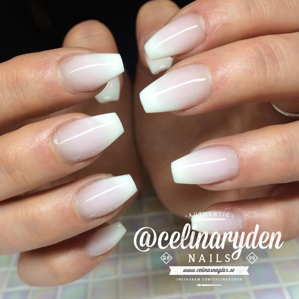 French Ombre Fade Babyboomers Nails
