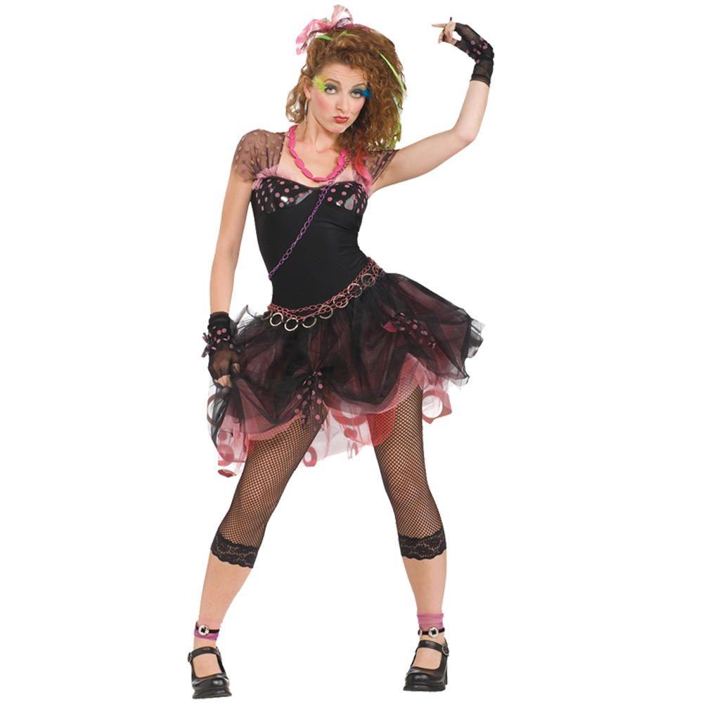 Ladies 80s Diva Fancy Dress Up Theme Party Pop Icon Halloween ...