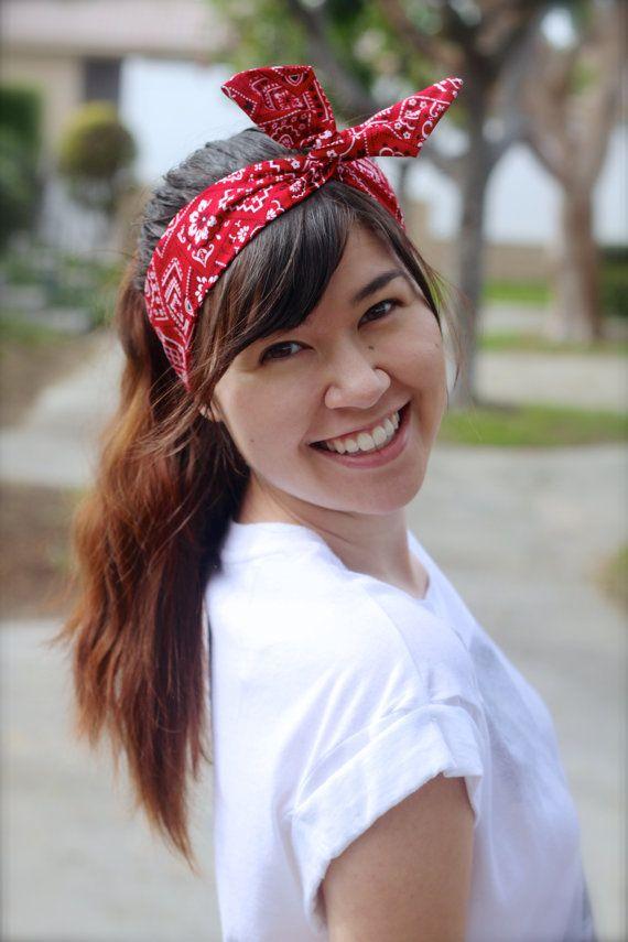 Red Bandana Dolly Bow 54d615207ae