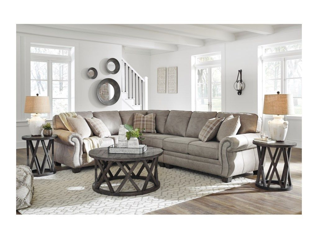Signature Design By Ashley Olsberg 3 Piece L Shaped Transitional