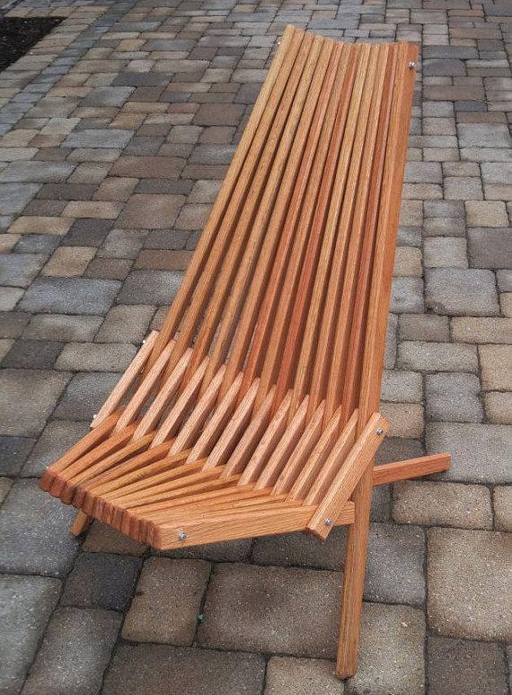 Oak Chair,Natural Danish Oil Finish, Folding Patio Furniture ...