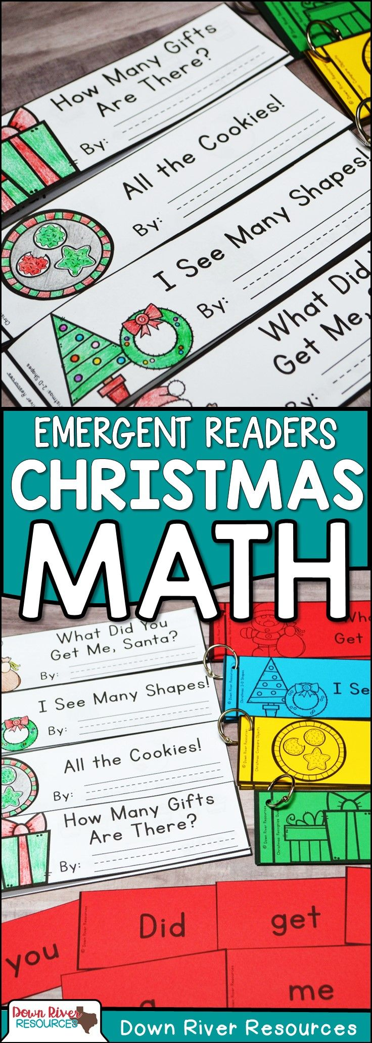 Christmas Math Emergent Readers {TEKS} | Sight Word Practice | Math ...