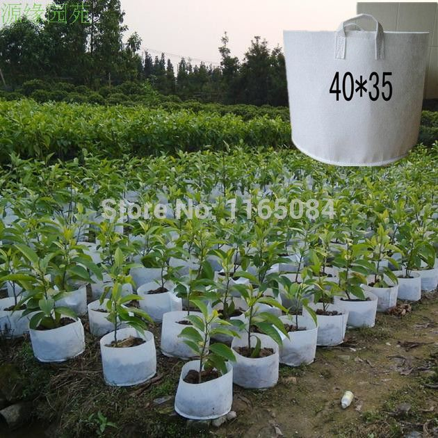 Free Shipping Non Woven Planting Bag Home Gardening Vegetable Grow Bags Trees Flower Pots Planters 40 35cm