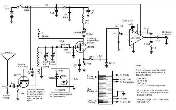 armstrong crystal radio schematic diagram