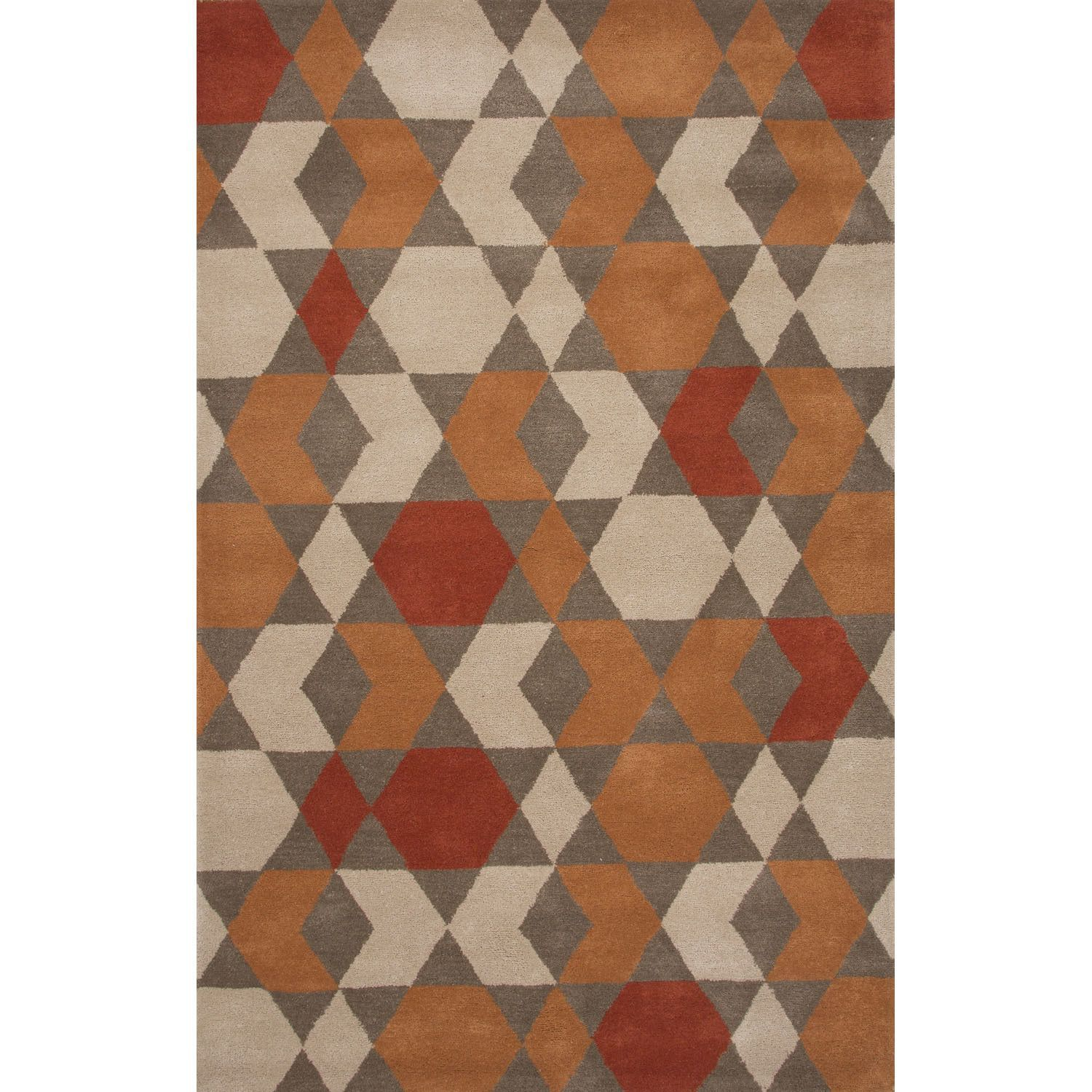 Axel Rug In Cement And Biscuit Wool Area Rugs Area Rugs Brown Area Rugs
