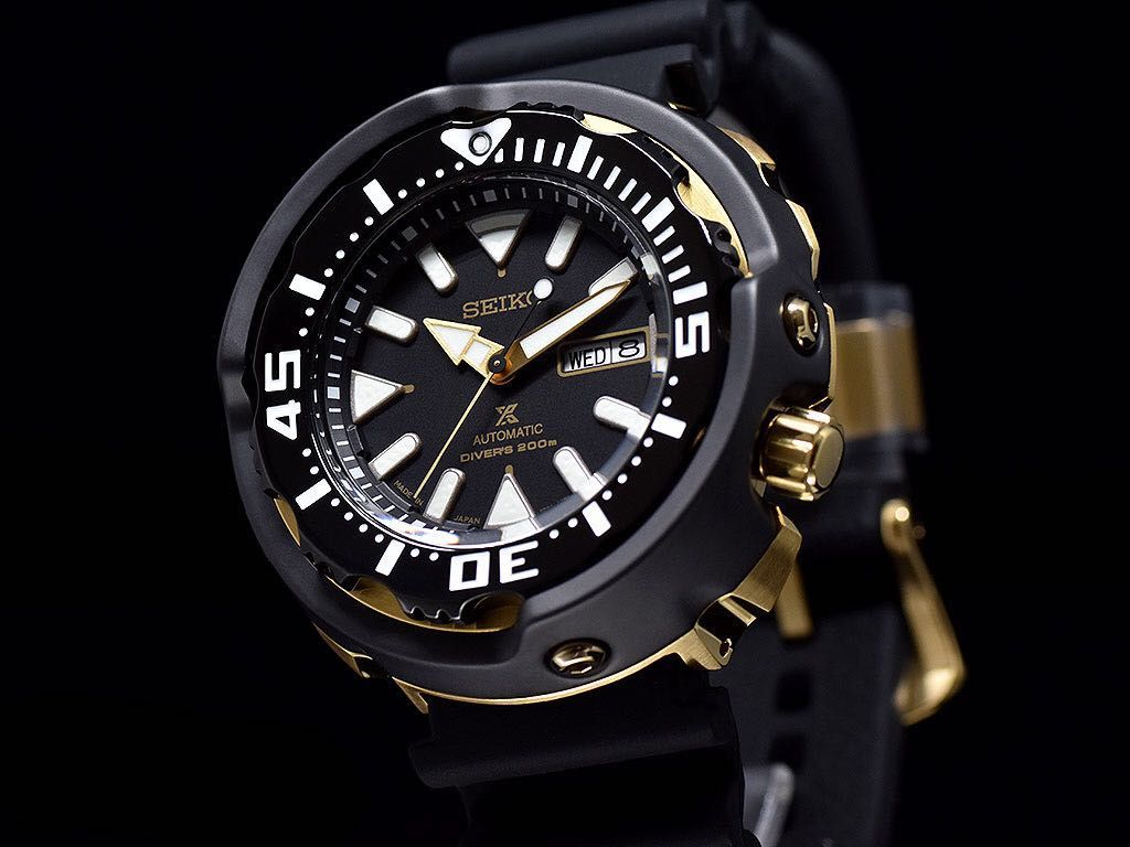 7dc3f56c211 Brand New Seiko Monster Tuna Diver SRPA82 MADE IN JAPAN SRPA82J1 Black Gold  with FREE DELIVERY