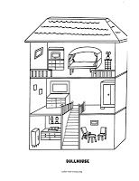 Doll House Coloring Page House Colouring Pages Coloring Pages Paper House Template