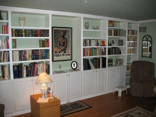 get builtin bookcases by using premade parts