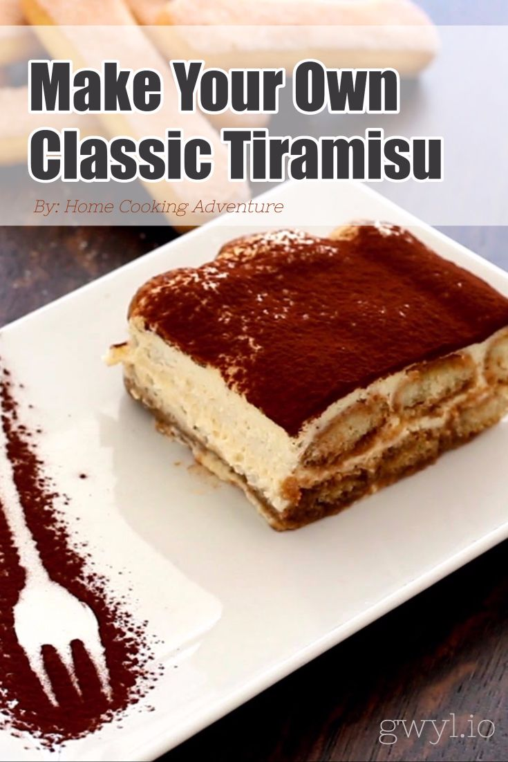All The While I Thought Tiramisu Is A Japanese Dessert But Thanks To Google Another Added Information Delicious Snacks Recipes Food Original Tiramisu Recipe