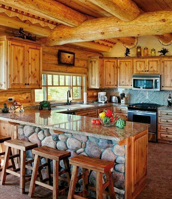 Cocinas r sticas de campo 3 muebles en 2019 cabin - Cocinas de campo ...