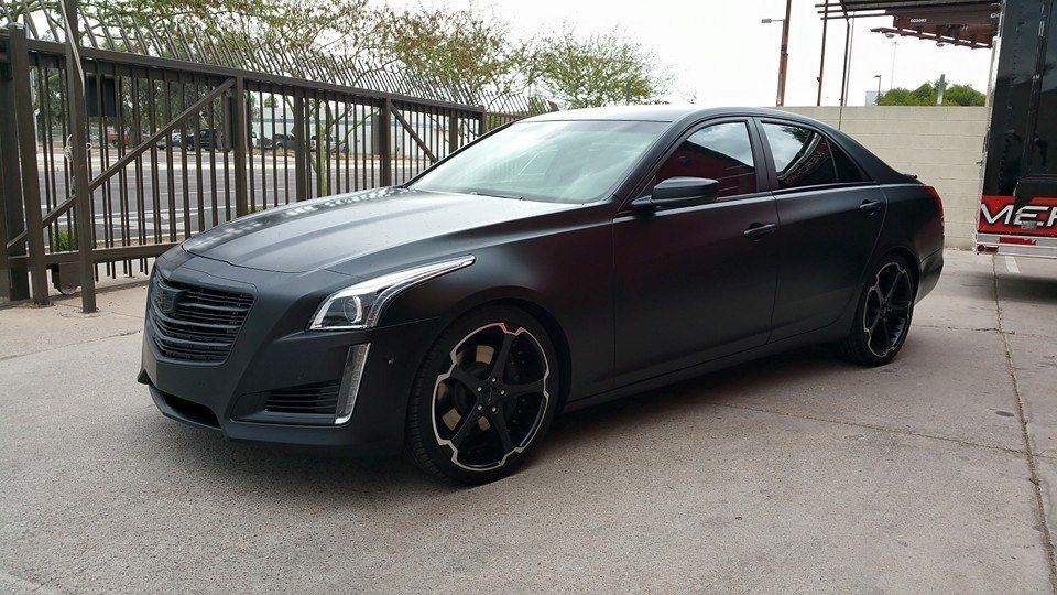 """Cadillac CTS """"Gangster Black"""" HaloEfx Liquid Wrapped"""
