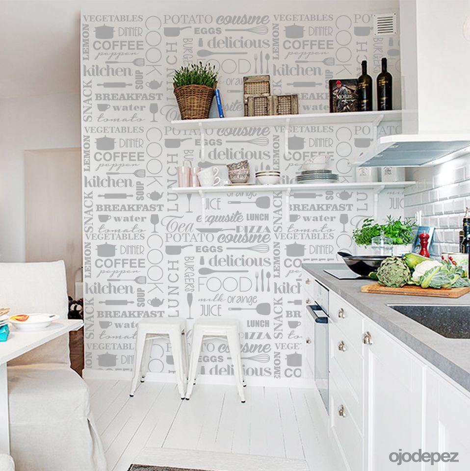 Vinilo decorativo home 042 trama de cocina vinilos - Papel para empapelar muebles ...