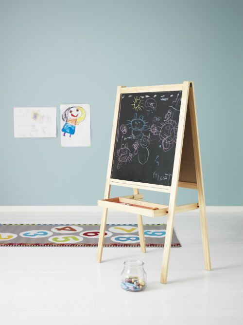 ikea fan favorite m la easel with a whiteboard on one side and a blackboard on the other your. Black Bedroom Furniture Sets. Home Design Ideas