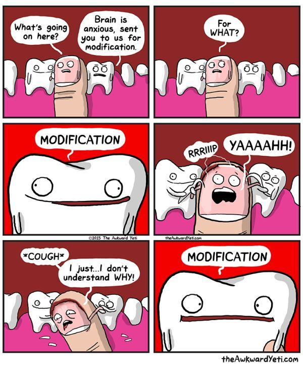 Nail Biting Comic Awkward Yeti Funny Pictures Funny Comics