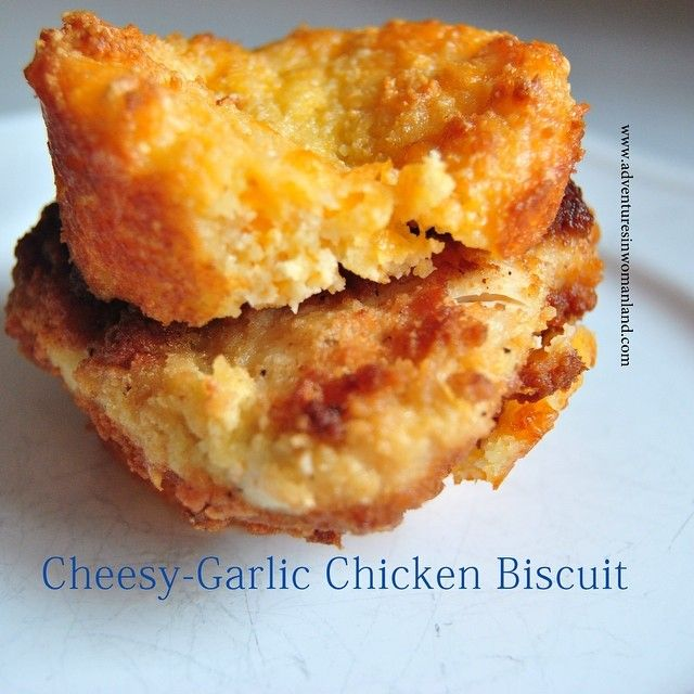 THM friendly chicken biscuit! (Think Red Lobster biscuits with Chik-fil-a chicken inside...YUM!)