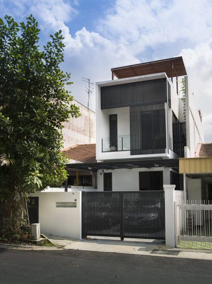 Dise o de casa peque a de dos pisos soluci n para mejorar for Pisos minimalistas pequenos