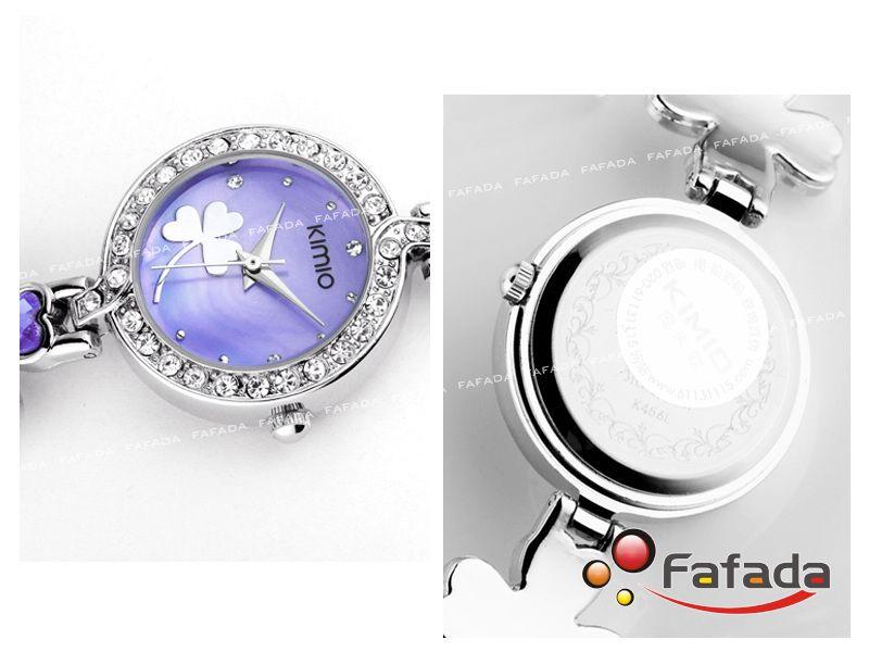 Purple Quartz Watches for Women | Details about KIMIO Lady Women's Rhinestone Quartz Watch Bracelet ...
