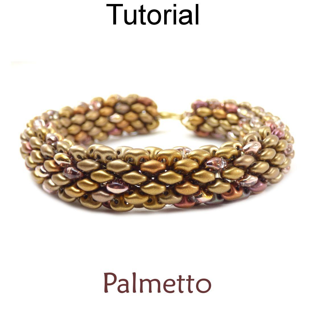 Beaded Tubular SuperDuo Bracelet Necklace Downloadable Beading Pattern Tutorial