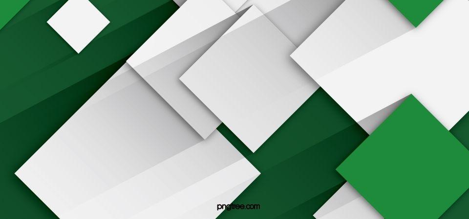 White Simple Green Geometric Background Geometric Background