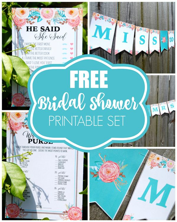 picture relating to Free Printable Bridal Shower Banner known as Floral Bridal Shower Freebies OGT Blogger Buddies Bridal