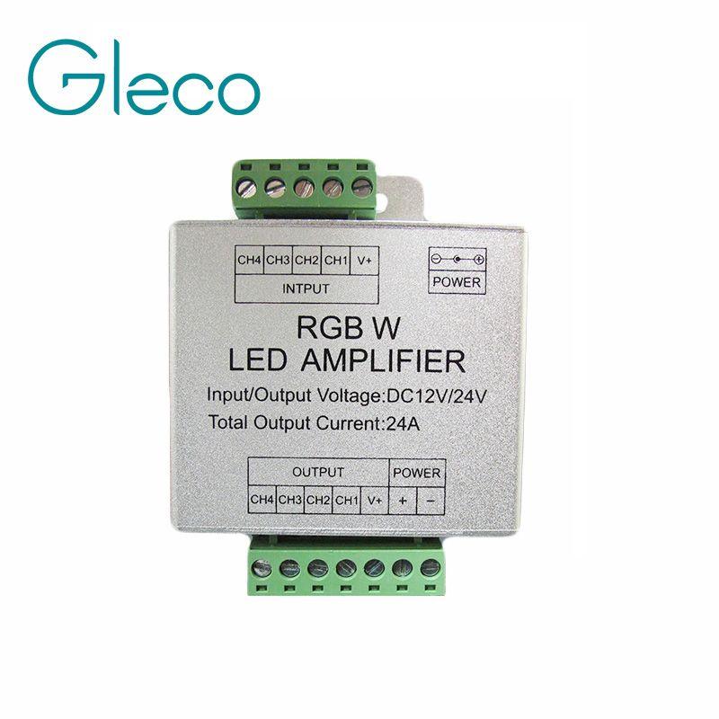Dc12 24v 24a led rgbw strip amplifier 6a x 4 channel