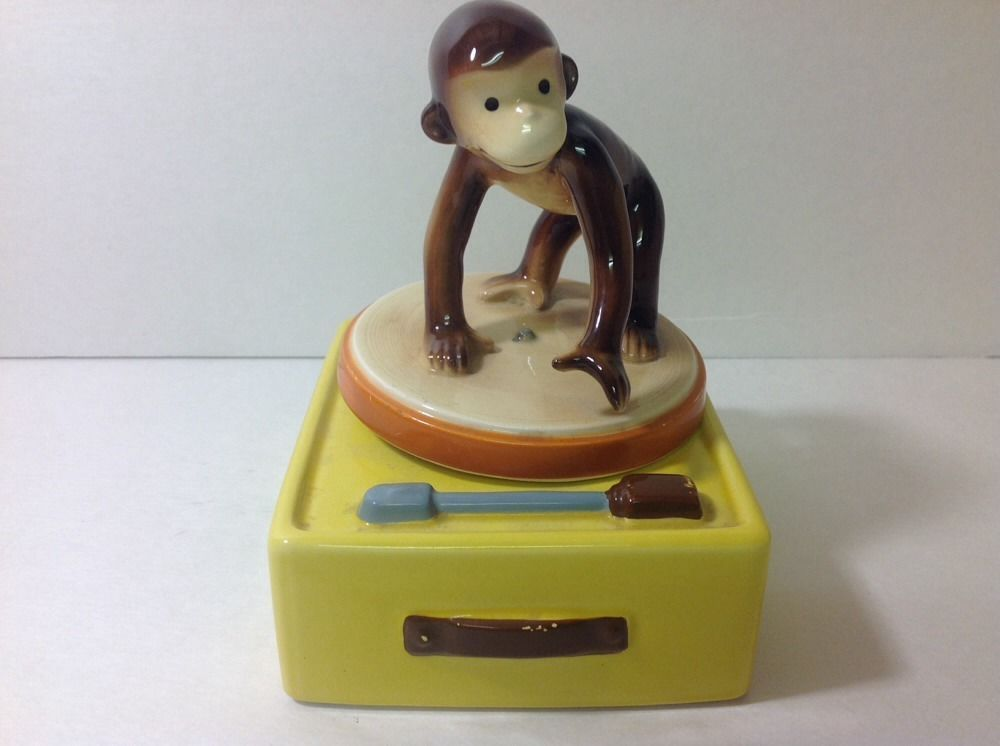 vintage gorham curious george the monkey music box record